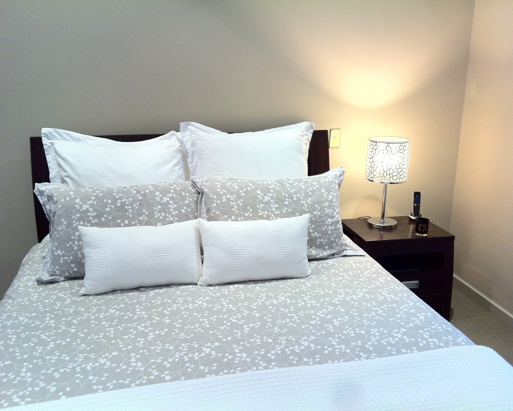 Bedroom with Table Lamp