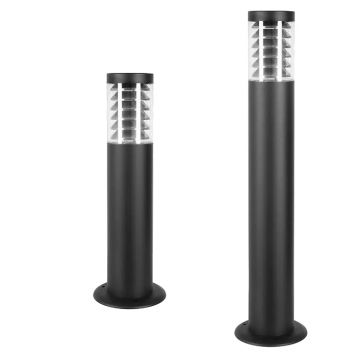 L2-7214 Black Outdoor Bollard Light with Grill