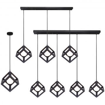 L2-1665 Black Square Pendant Light Range from