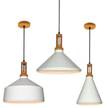 L2-1650 Metal and Timber Look Pendant Light Range