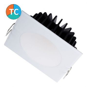 10w S9041-SQ-TC Tri-Colour LED Downlight-White (90 Degree Beam - 900lm)