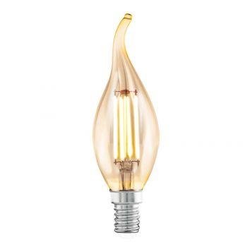 L2U-3121 4w Flame Tip Candle LED Filament Lamp - E14 Base