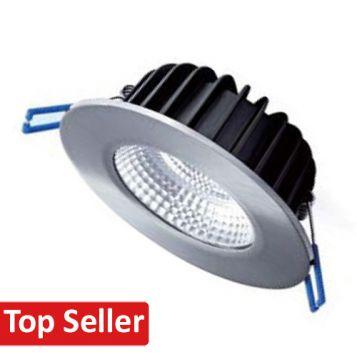 12w DL12C LED Downlight Complete Kit - Brushed Chrome (60 Degree Beam - 910lm)