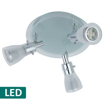 L2-325 11w LED Spotlight Range - Brushed Chrome - 3 Light Round