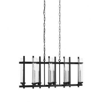 L2-11054 Black Industrial Linear Pendant Light