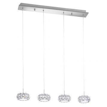 L2-1755 LED Chrome/Crystal Pendant Light
