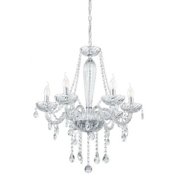 L2-1745 Chrome Acrylic Crystal Chandelier - 4 Sizes