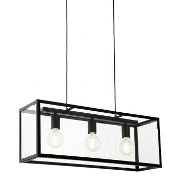 L2-1733 Black Linear Pendant Light