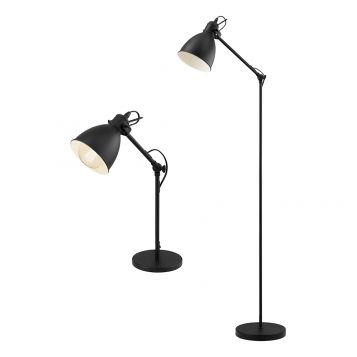 L2-5602 Black Vintage Table and Floor Lamp Range from