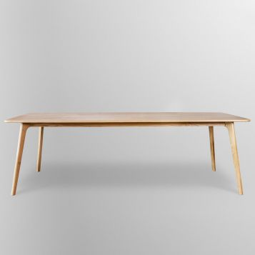 F2-102 Solid Oak Rectangle Table