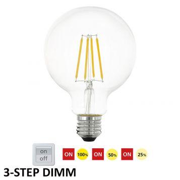 L2U-3178 6w G95 3-Step Dimmable LED Lamp - E27 Base