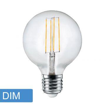 6w G125 LED Filament Lamp - E27 Base
