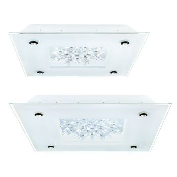 L2U-9145 Glass Crystal & Mirror Ceiling Light from