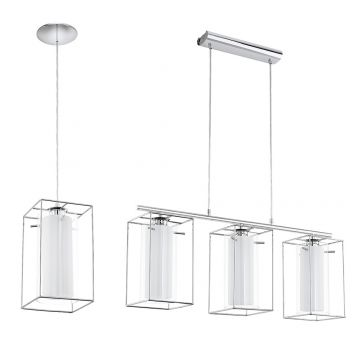L2-1735 Chrome, Double Glass Pendant Light Range from