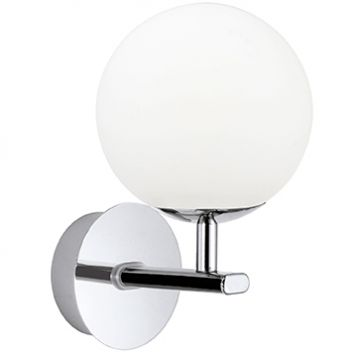L2-6157 Chrome with Opal Glass (IP44) LED Vanity Wall Light