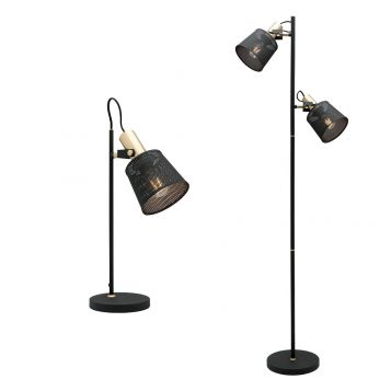 L2-5471 Black Table and Floor Lamp Range from