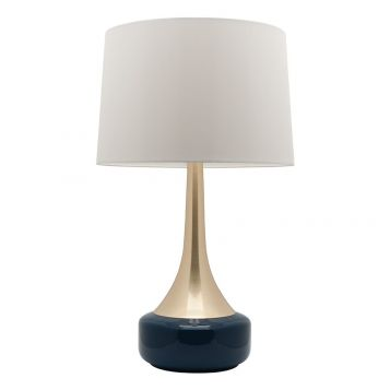 L2-5484 Brass with Navy Table Lamp