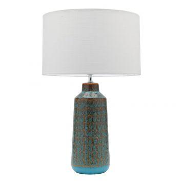 L2-5476 Teal Ceramic Base Table Lamp