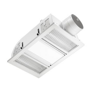 L2U-1109 Airbus 3in1 Bathroom LED Panel light, 2 Heat and Exhaust Fan