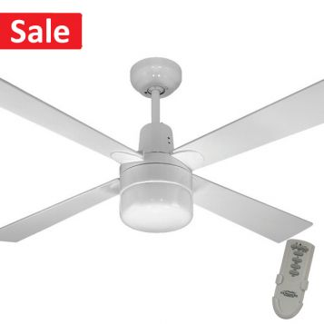 Alpha Ceiling Fan with Clipper Light and Remote - Special