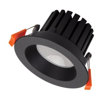 13w Aqua Fixed LED Downlight - Black (60 Degree Beam - 1300lm)