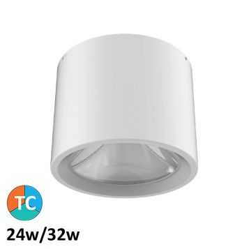 24w/32w Astro Surface Mounted Tri-Colour LED Downlight (55 Degree Beam - 3100lm)