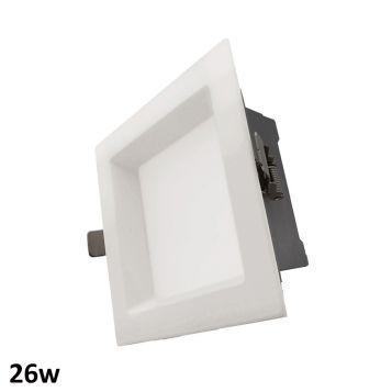 26w Aurora Square LED Downlight (90 Degree Beam - 2070lm)