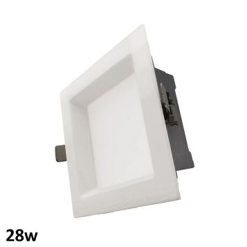 28w Aurora Square LED Downlight (90 Degree Beam - 2460lm)