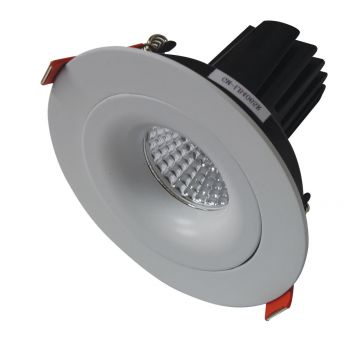 12w MDL-16 LED Downlight with Curved Adjustable Frame (40 Beam - 880lm)