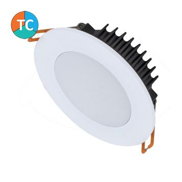 10w Bliss-10 Trio Wide Beam Tri-Colour LED Downlight - White (120 Degree Beam - 800lm)