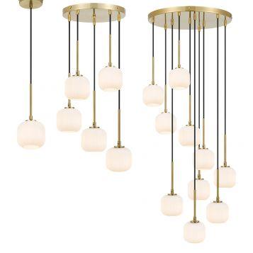 L2-11447 LED Pendant Light Range - Antique Gold