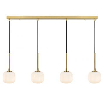 L2-11448 4-Light LED Bar Pendant Light - Antique Gold