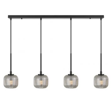 L2-11448 4-Light LED Bar Pendant Light - Black
