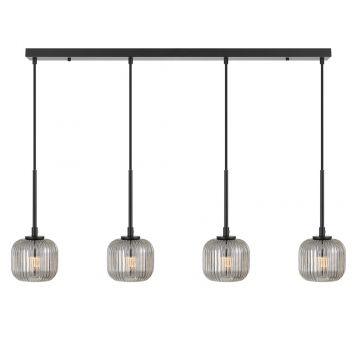 L2-11448 4-Light LED Bar Pendant Light - Black