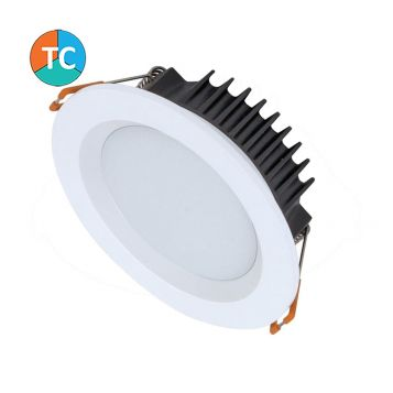 10w Boost-10 Trio Wide Beam Tri-Colour LED Downlight - White (90 Degree Beam - 800lm)