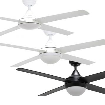 "Bulimba 1220mm (48"") ABS 4 Blade Ceiling Fan with Optional Light"