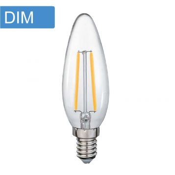 4w C35 Candle Dimmable LED Filament Lamp - E14 Base