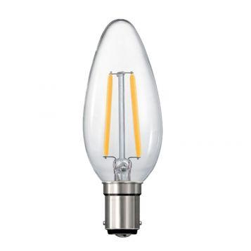 4w C35 Candle LED Filament Lamp - B15 Base