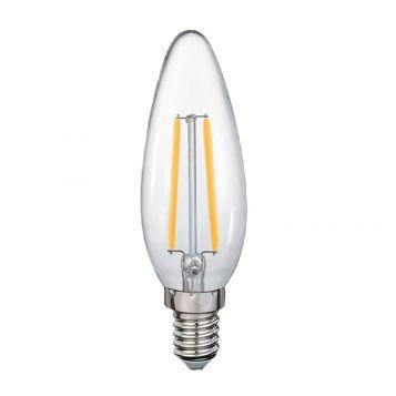 4w C35 Candle LED Filament Lamp - E14 Base