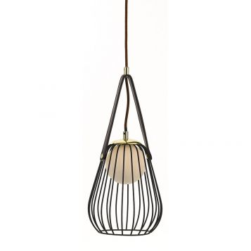 L2-11306	Black Cage Pendant Light