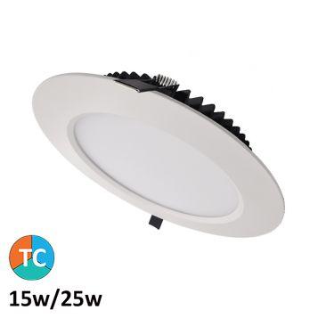 15w/25w Centauri Tri-Colour LED Downlight (100 Degree Beam - 2680lm)