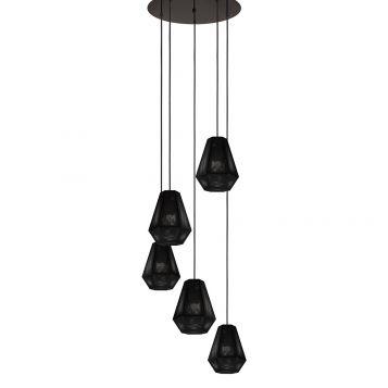L2-11074 Perforated Metal Pendant Light - 5 Light