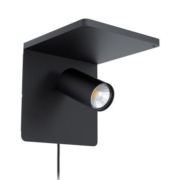 L2-6190 Adjustable LED Wall Light with Wireless Qi Charging Dock