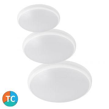 L2U-9222 Round Tri-Colour LED Oyster Light Range - White