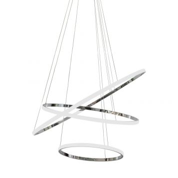 L2-11221 LED 3-Ring Pendant Light - Chrome