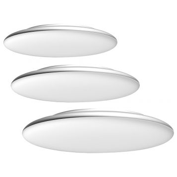 L2U-9203 Silver Dimmable LED Oyster Light Range from