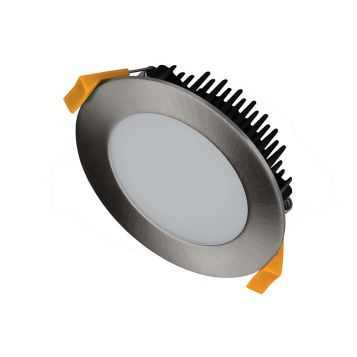 13w DL1250 Satin Chrome Tri-Colour LED Downlight (120 Degree Beam - 1050lm)