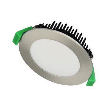 12w DL1262 Satin Chrome LED Downlight (120 Degree Beam - 1000lm)