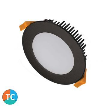 10w DL1270 Mini 70mm LED Downlight (120 Degree Beam - 750lm) - Black