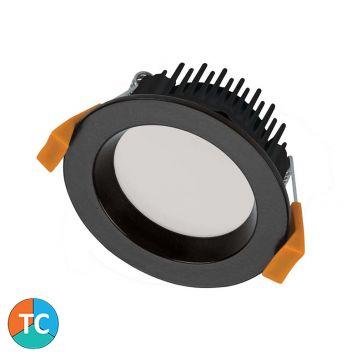 10w DL1275 Mini 70mm LED Downlight (120 Degree Beam - 800lm) - Black